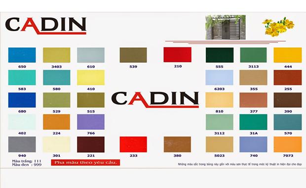 Bảng Báo Giá Sơn Dầu Cadin